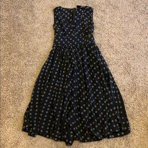 No.6 Store Black Printed Midi Dress